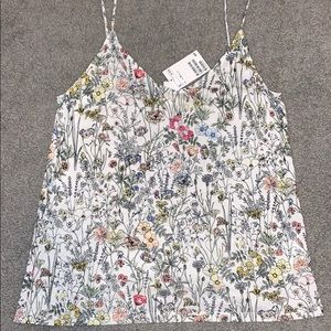 Floral tank top from H&M. Never worn!